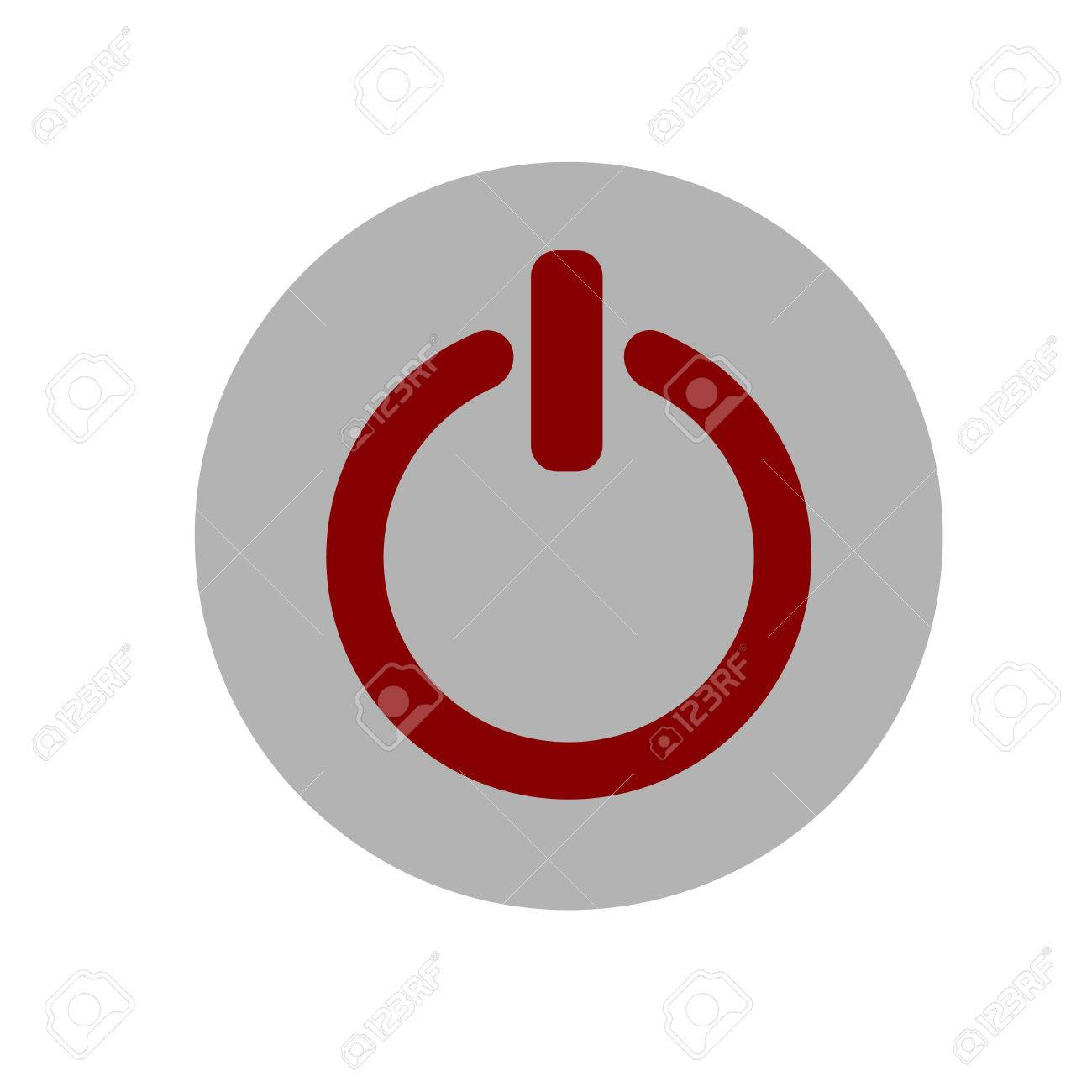 Power On Off Icon Illustration Gray And Red Icon Royalty Free