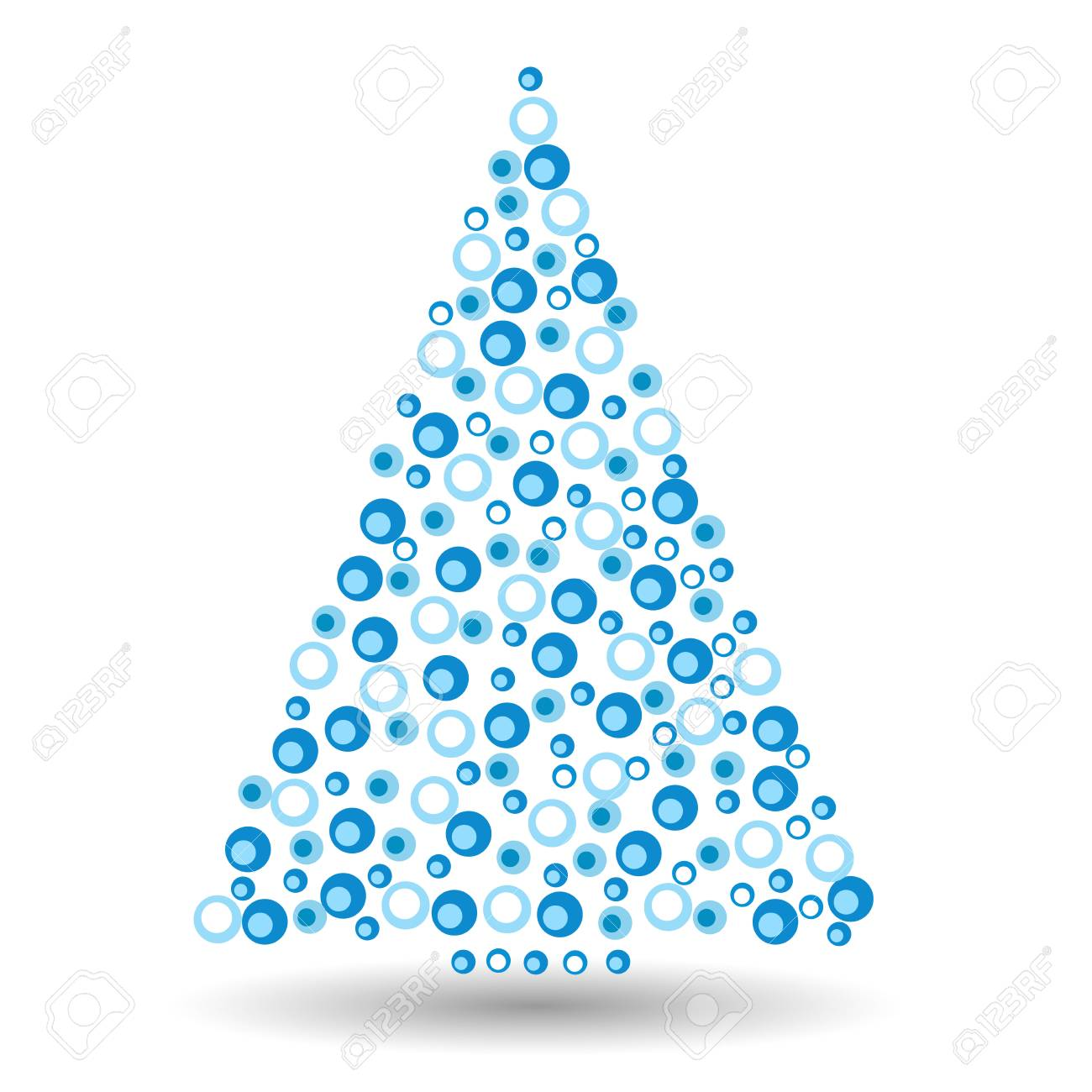 Simple Abstract Christmas Tree Of Dots Or Circles In A Triangle Royalty Free Cliparts Vectors And Stock Illustration Image 67175315