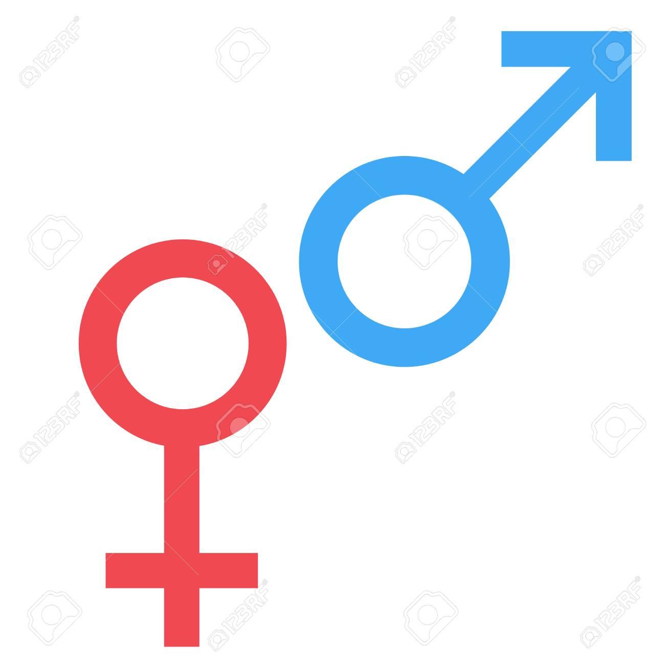 Foto de archivo - Símbolo sexual Símbolo de hombre y mujer de género.  Símbolo abstracto masculino y femenino. Vector