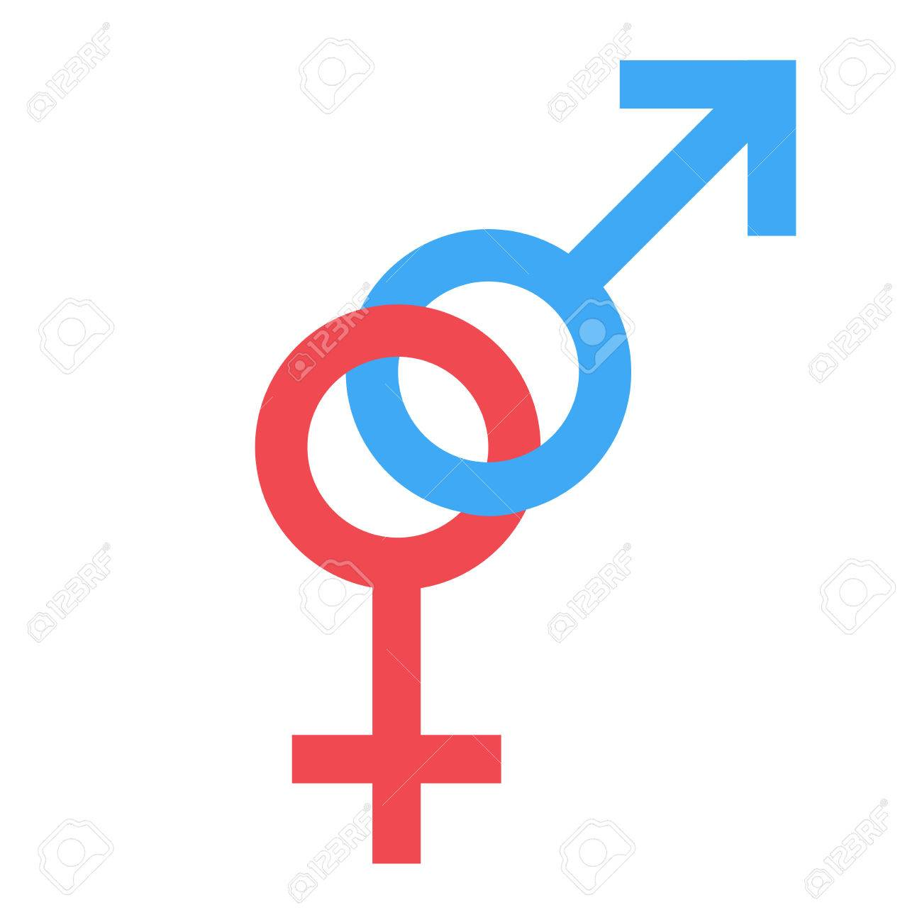Sex Symbol Gender Man And Woman Connected Symbol Male And Female
