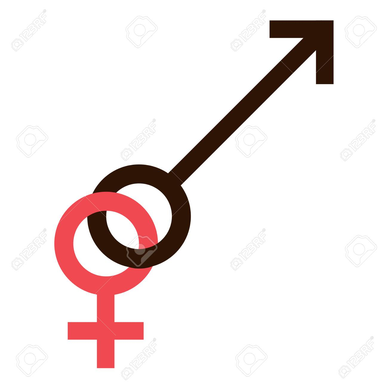 Sex Symbol Gender Man And Woman Interracial Connected Symbol