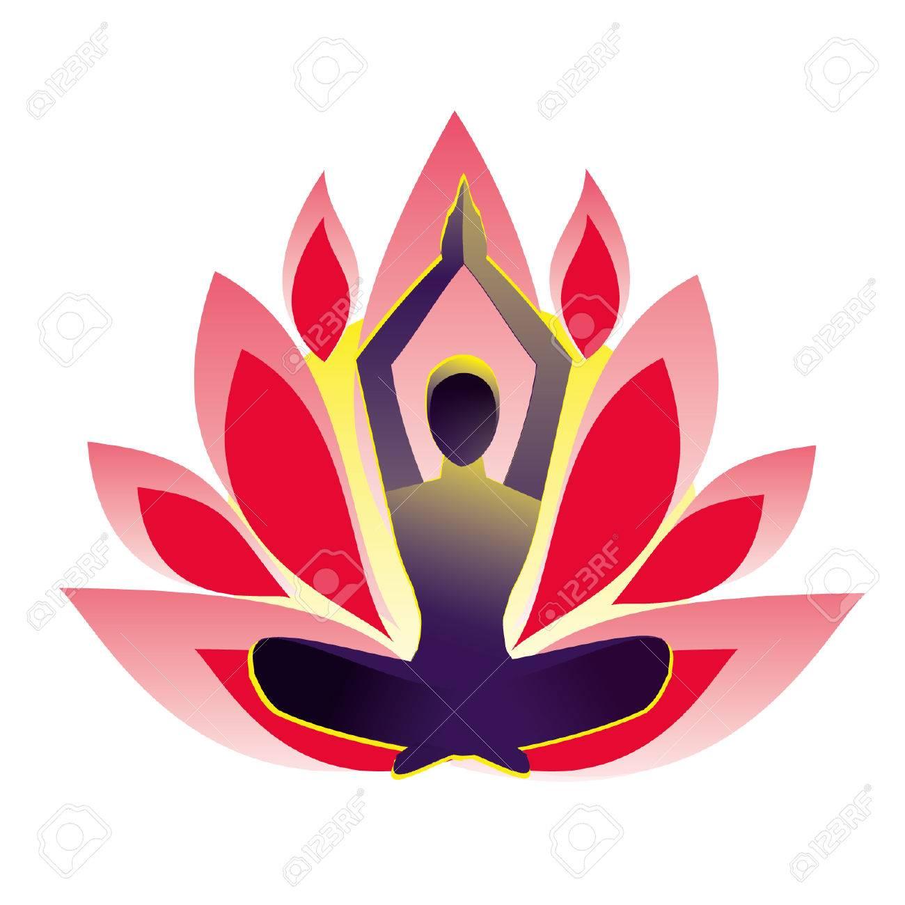 Yoga Pose Lotus Vector Illustration Royalty Free Cliparts Vectors