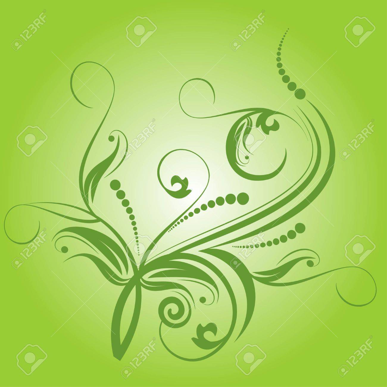 decorative branch Stock Vector - 6642173