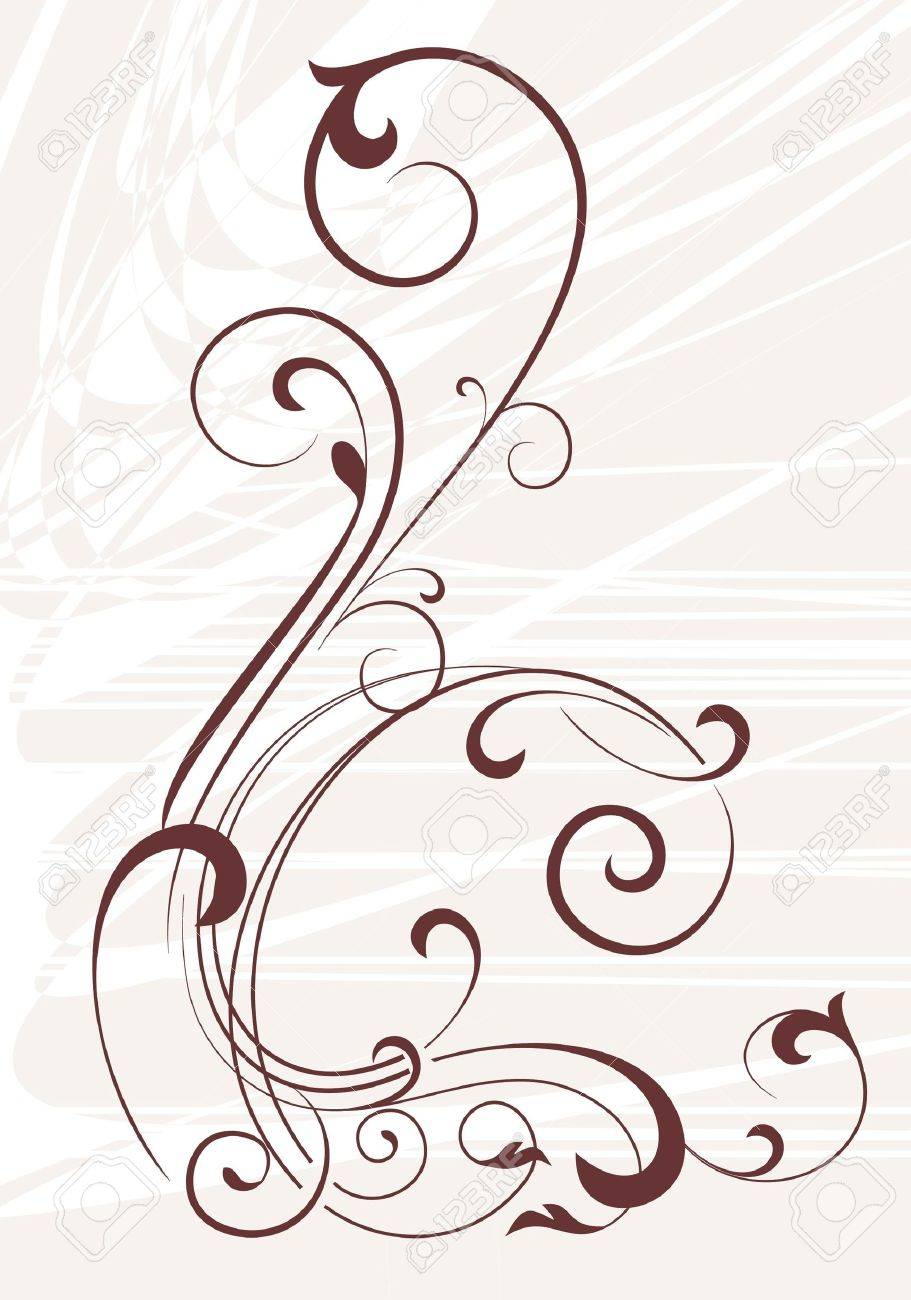 Decorative corner - element for design in vintage style Stock Vector - 12834533
