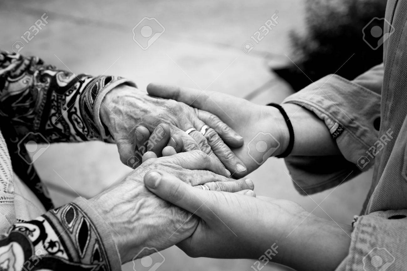 Image of: White Photography Stock Photo Young Hands Supporting Old Handshelping Elderly People Conceptblack And White Image With Selective Focus 123rfcom Young Hands Supporting Old Handshelping Elderly People Concept
