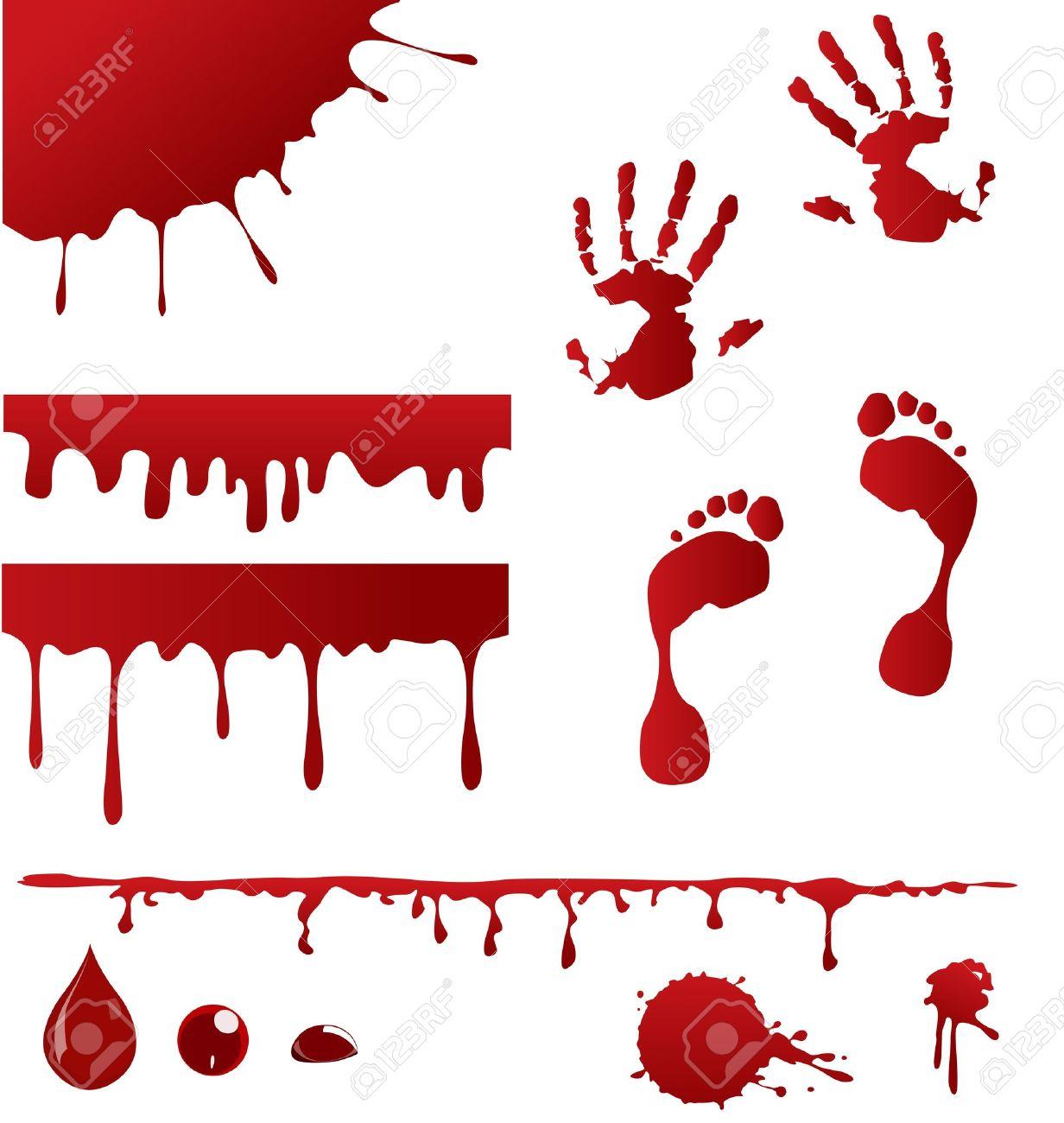 Set Blutspritzer Und Vier Gießen Blut Rahmenkonstruktionen Für Die ...
