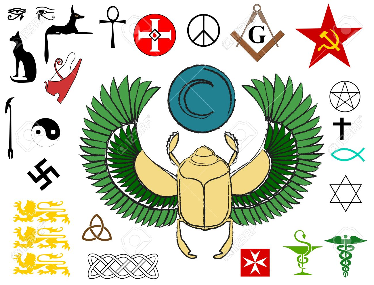 religious signs and symbols of power royalty free cliparts vectors
