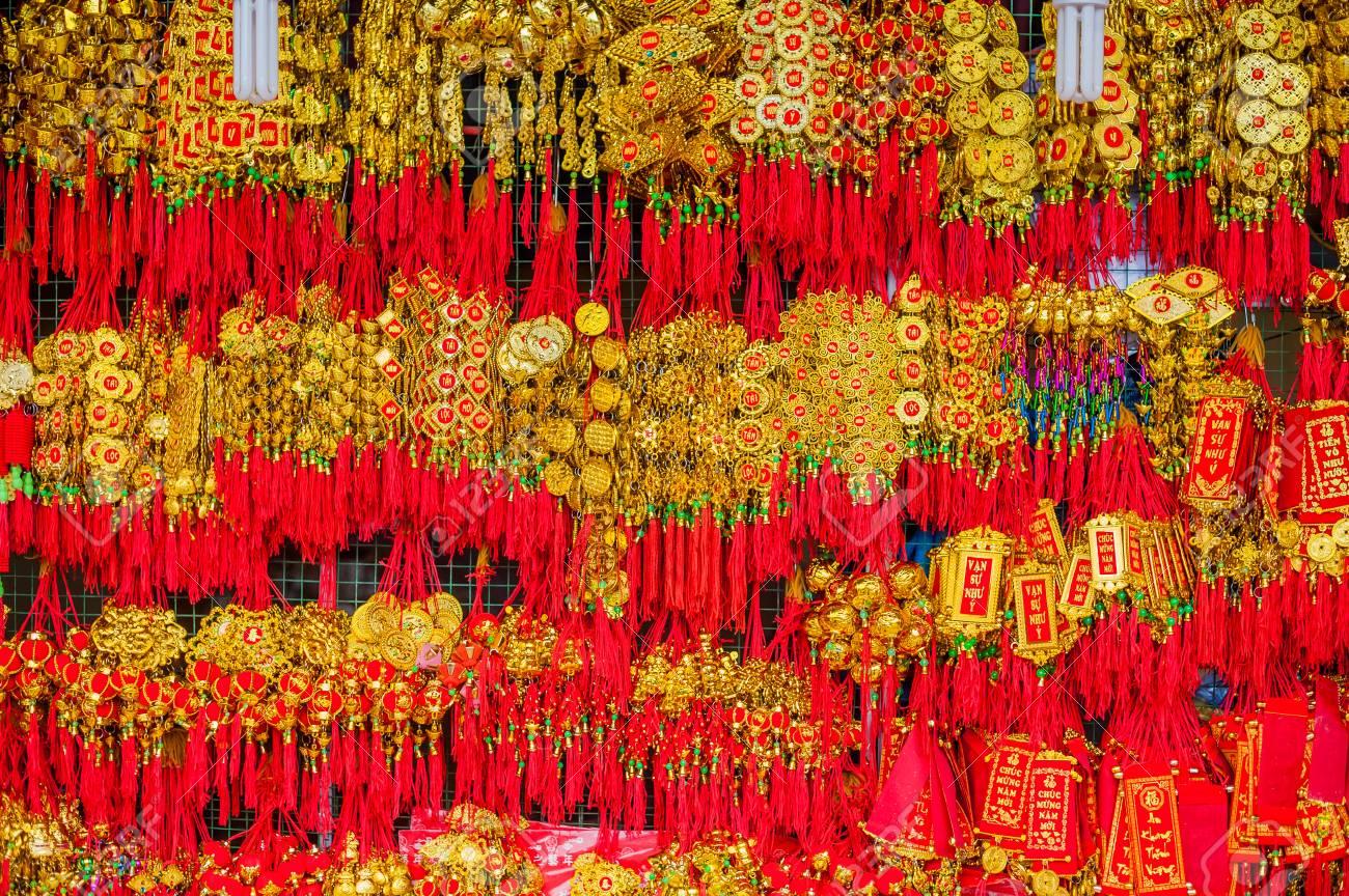 Lunar New Year Ideen Dekoration Objekte . Worte Bedeuten Jeden ...