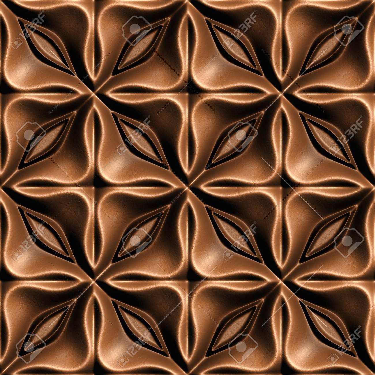 ブラウン肌イラスト、3 d のシームレスな背景パターン。 ロイヤリティー