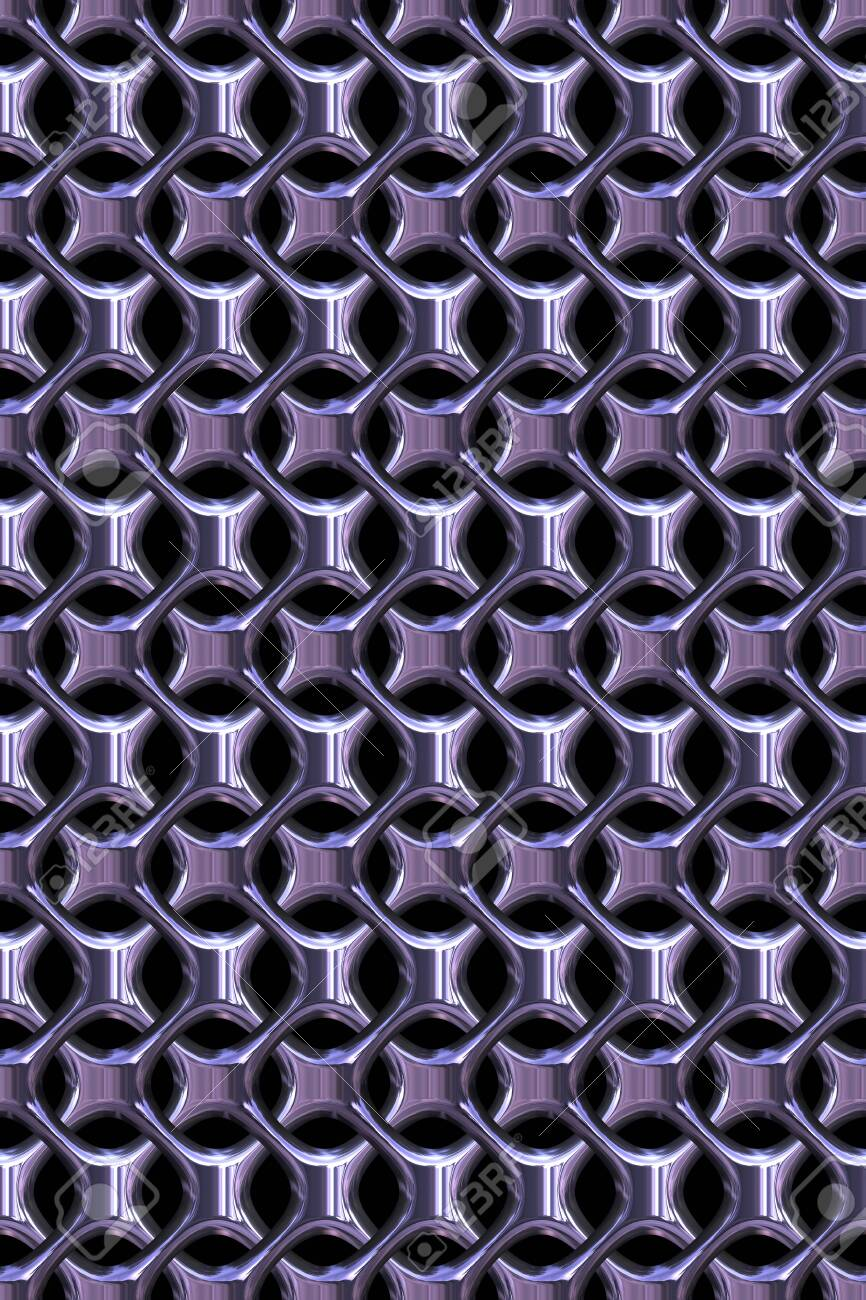 3d Effect Seamless Background Wallpaper Metal Tiled Pattern