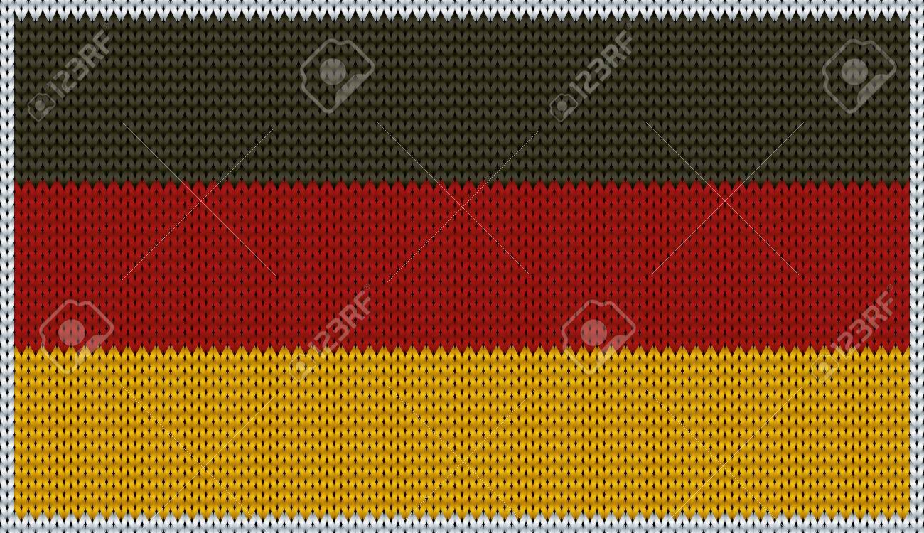Entwurf Von Strick Abzeichen Von Deutschland - DE, GER - Flagge ...