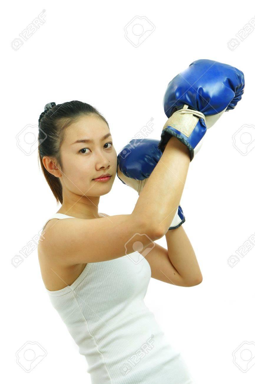 Boxing woman Stock Photo - 11563173