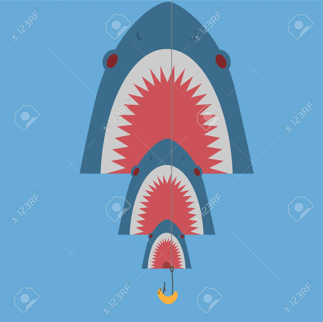big fish with bait Stock Vector - 24969215