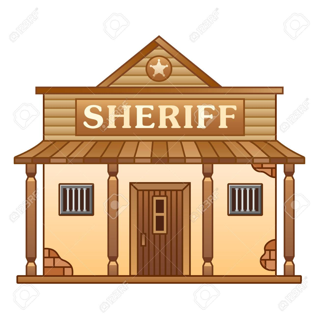 Sheriff Cartoon Wild West