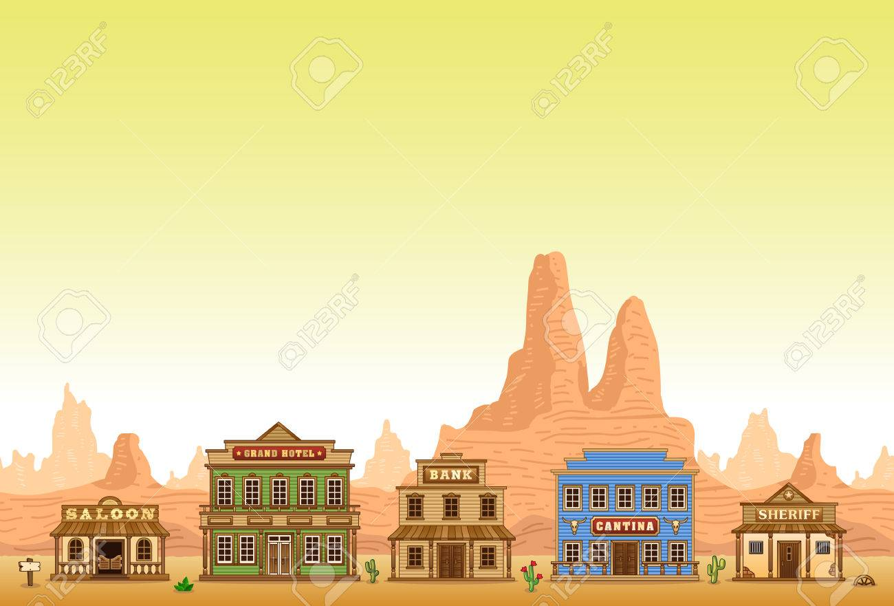 146 Saloon Town Cliparts, Stock Vector And Royalty Free Saloon ...