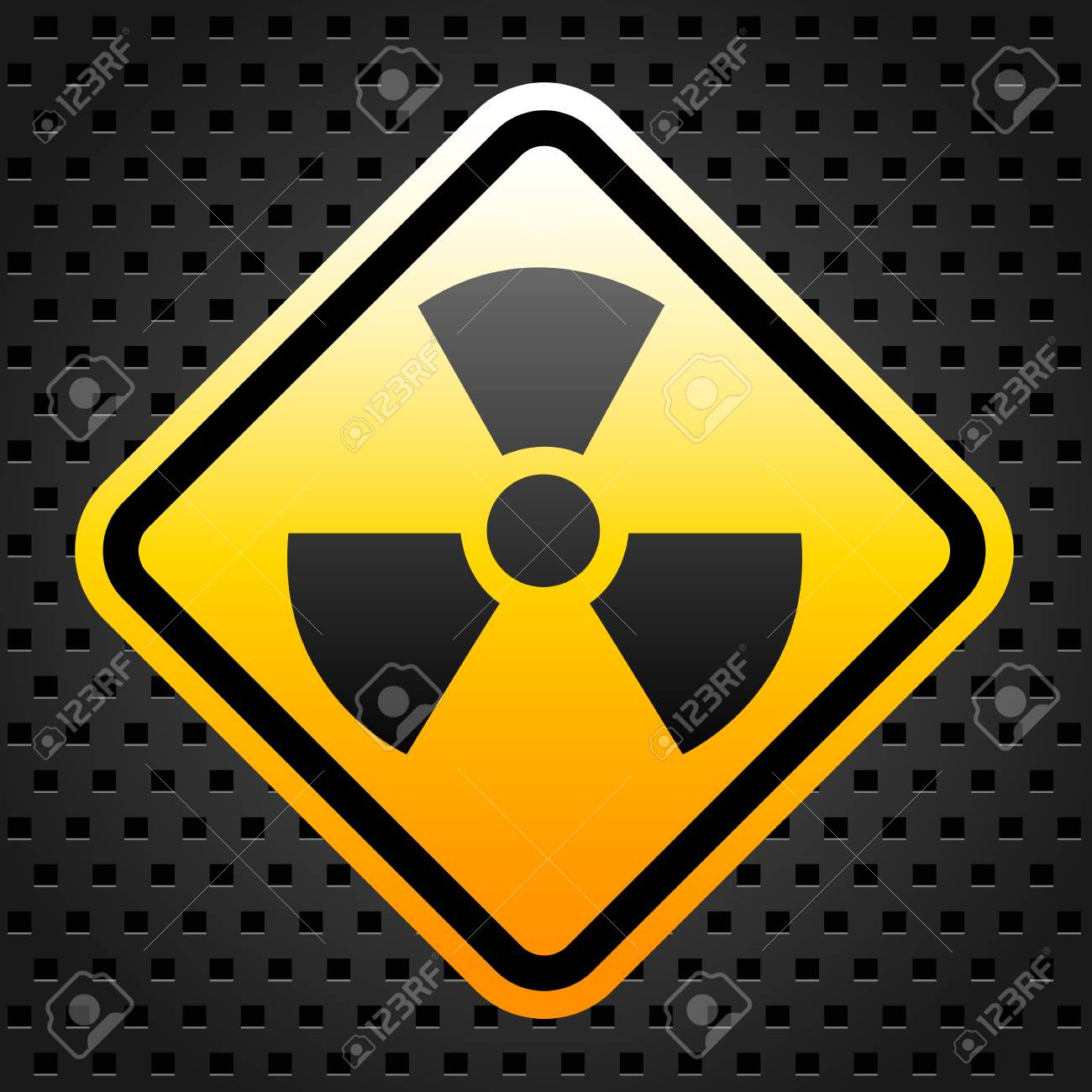 Radiation warning sign Stock Vector - 27246853