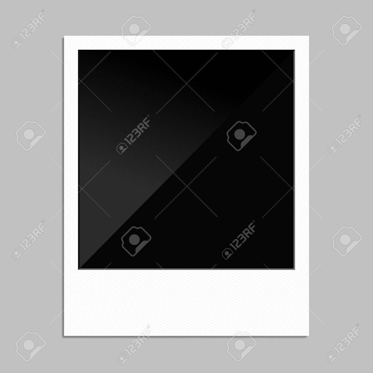 Blank Polaroid Bilderrahmen Für Ihre Entwürfe. Lizenzfrei Nutzbare ...