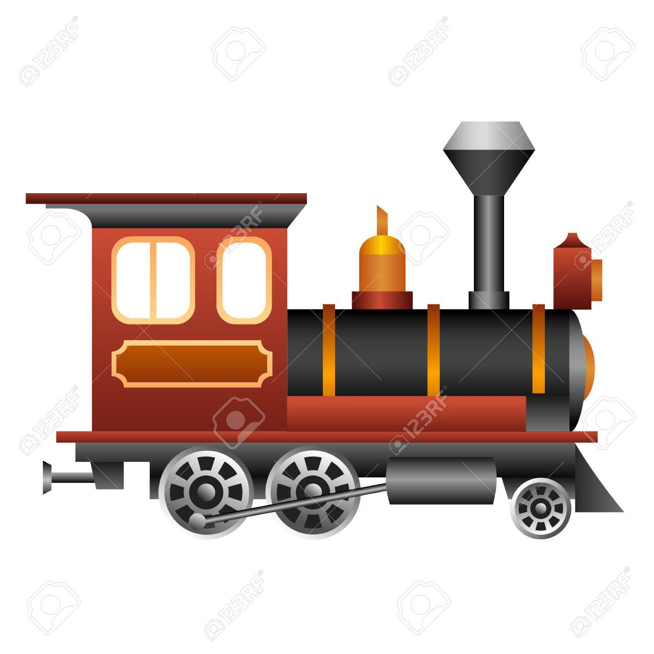 old and vintage train for your design royalty free cliparts rh 123rf com steam train clip art steam engine clipart images