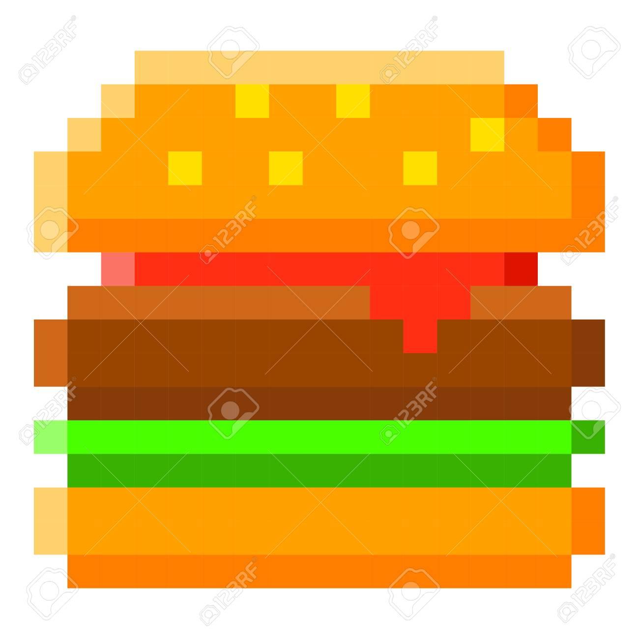 Pixelated burger icon