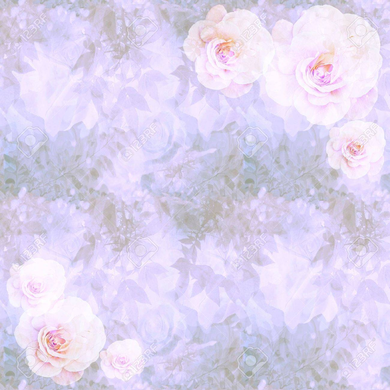 Victorian romantic wallpaper with pink roses, branches and foliage Stock Photo - 14267420
