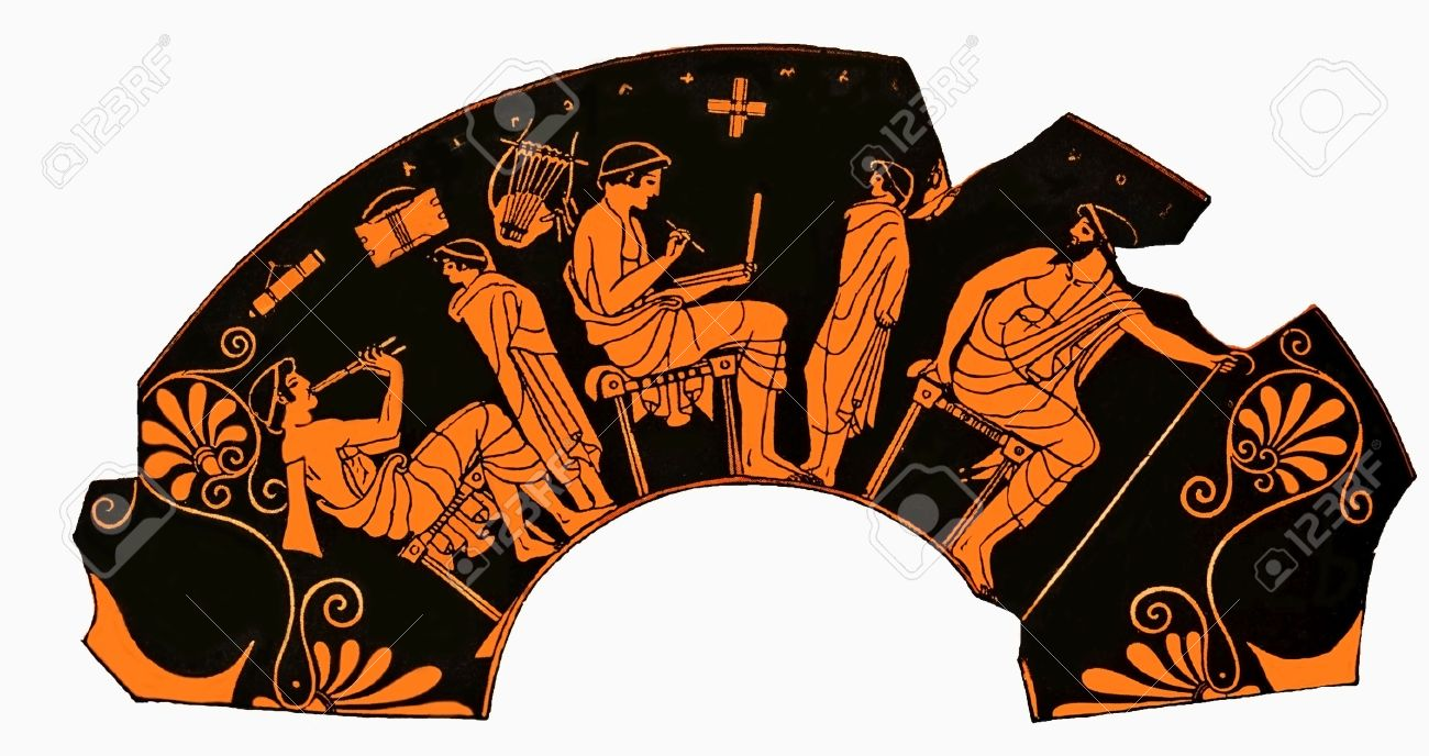 Ancient greek vase depicting a school lesson with pupil playing ancient greek vase depicting a school lesson with pupil playing flute and student writng on a reviewsmspy