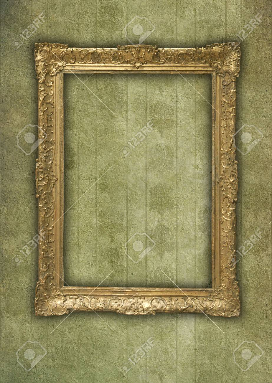 Antique decorative frame on grunge and faded background Stock Photo - 32916699
