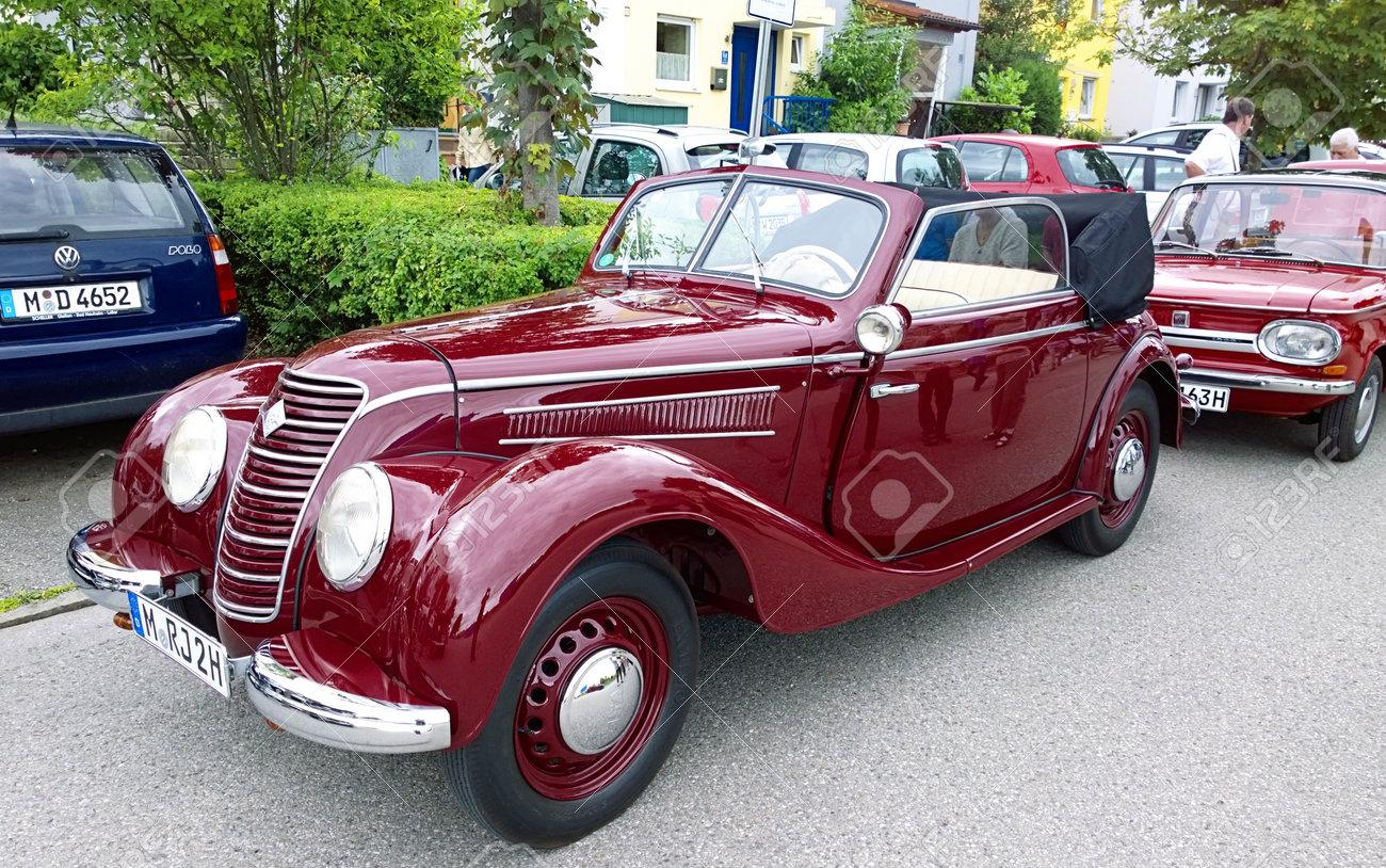 GARCHING, GERMANY, Vintage Cars At Garching Traditional Parade ...