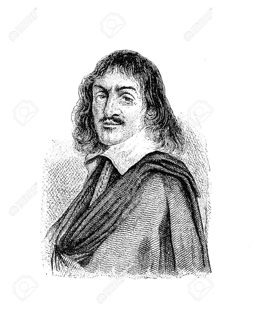 Portrait of René Descartes (31 March 1596 – 11 February 1650) known also as  Renatus Cartesius, French philosopher, mathematician and scientist , father  of ...