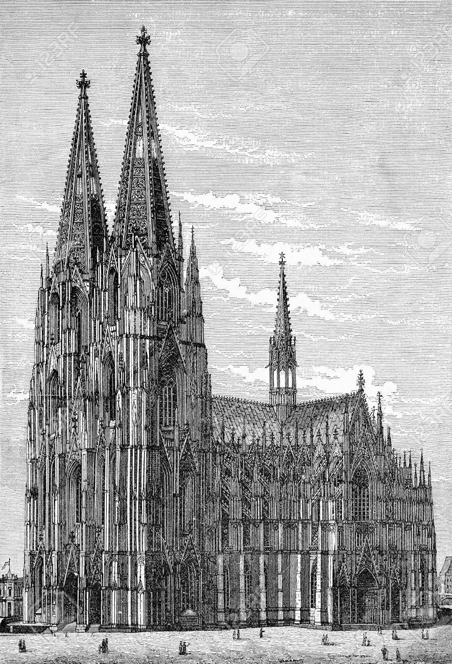 Cologne Cathedral In Gothic Style The Seat Of Archbishop And