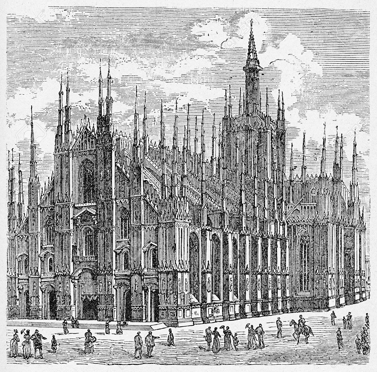 Milan Cathedral In Gothic Style Immense Renaissance Building Third Largest Church The World
