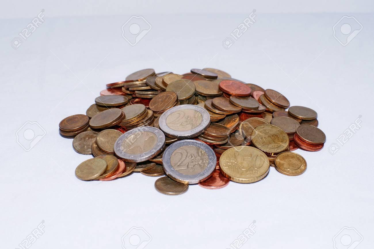Euro coins money background Stock Photo - 12966093