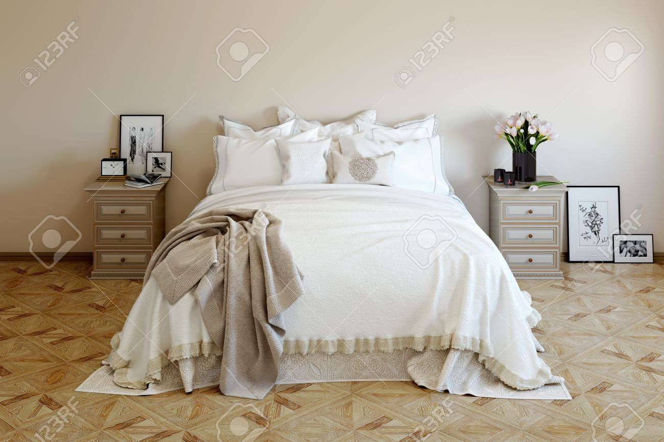 Romantic Bedroom Decor With Tender Fresh Flowers Candles Photos Stock Photo Picture And Royalty Free Image Image 46358431