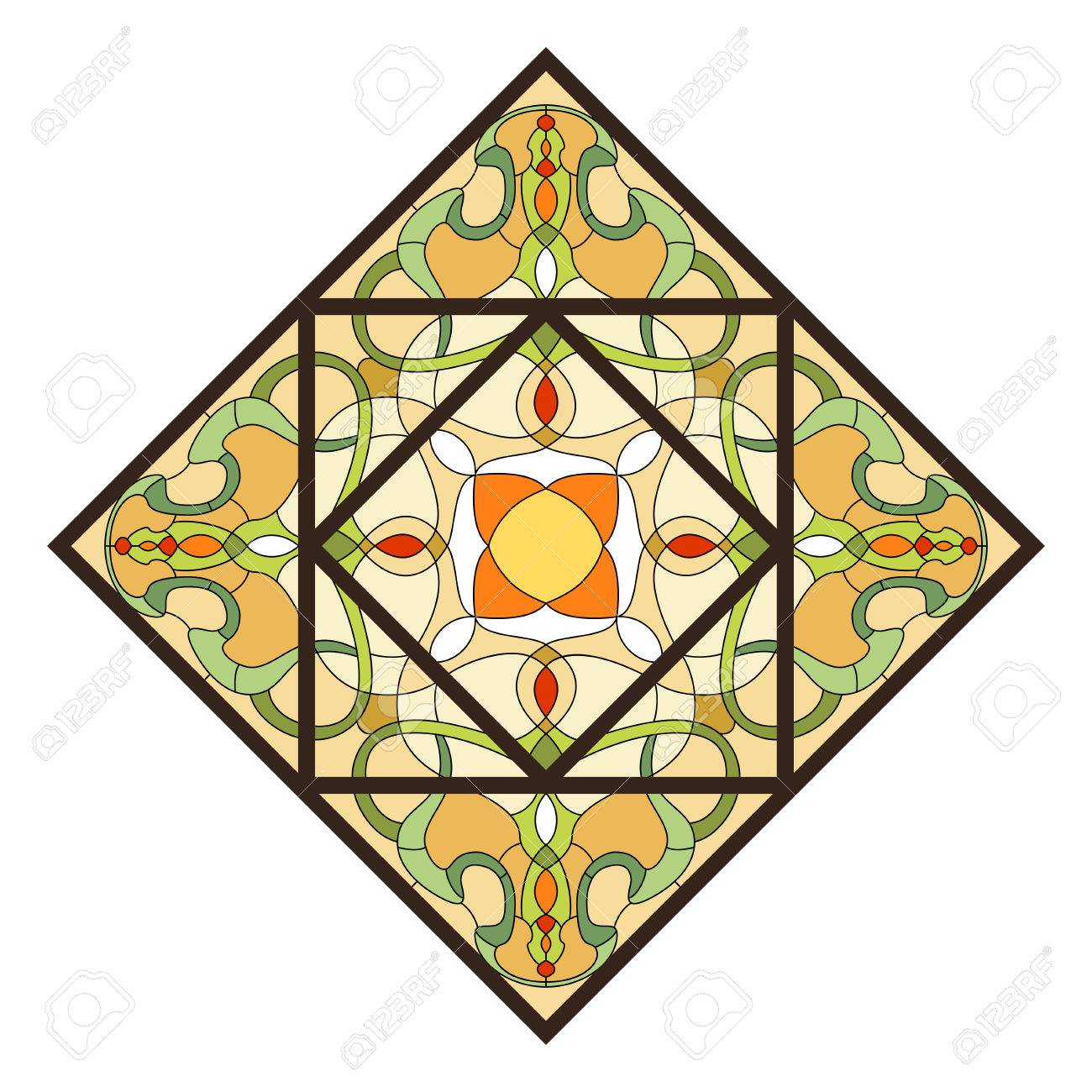 Stained glass pattern for ceiling light with ornament stained glass pattern for ceiling light with ornament 48768620 mozeypictures Choice Image