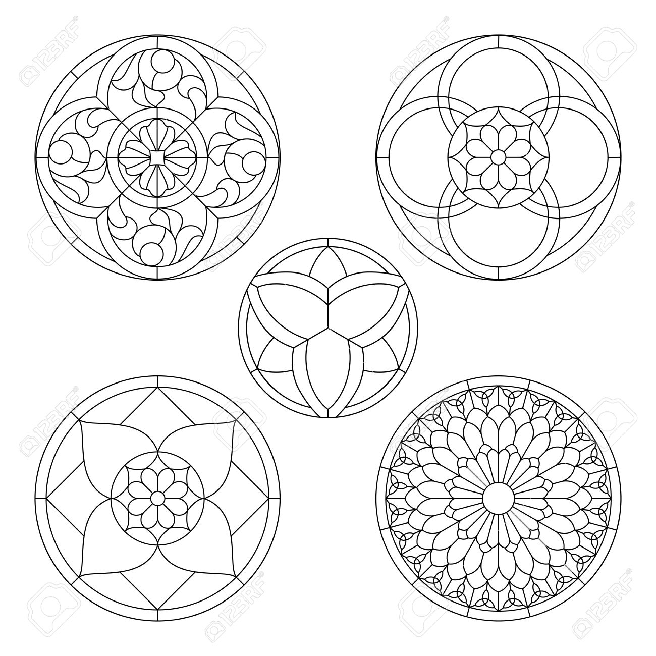 Stained glass templates round elements for stained glass windows stained glass templates round elements for stained glass windows stock vector 49172262 maxwellsz