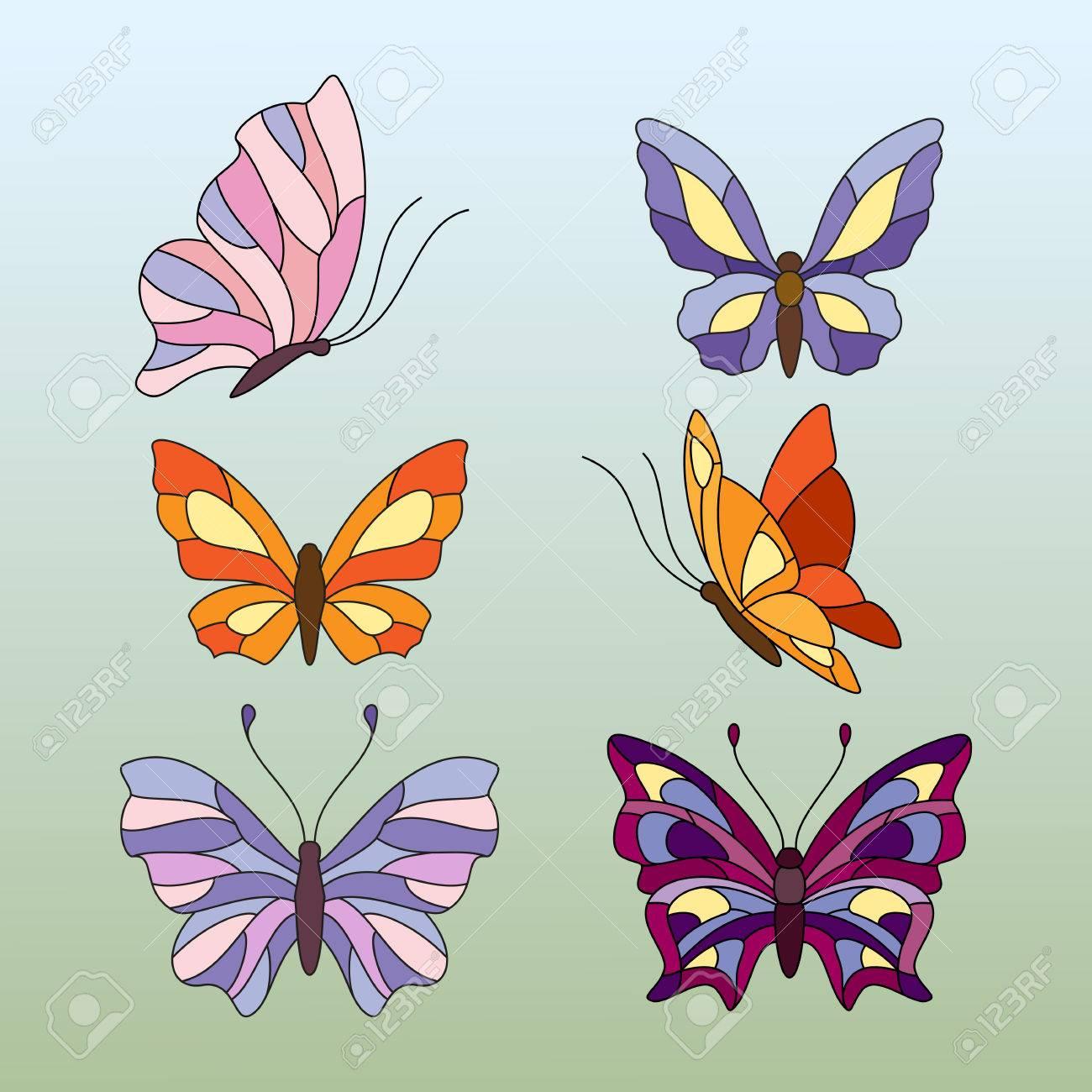 butterfly window stock photos royalty free butterfly window