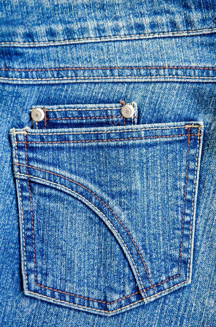 Blue jeans pocket. - 35327272