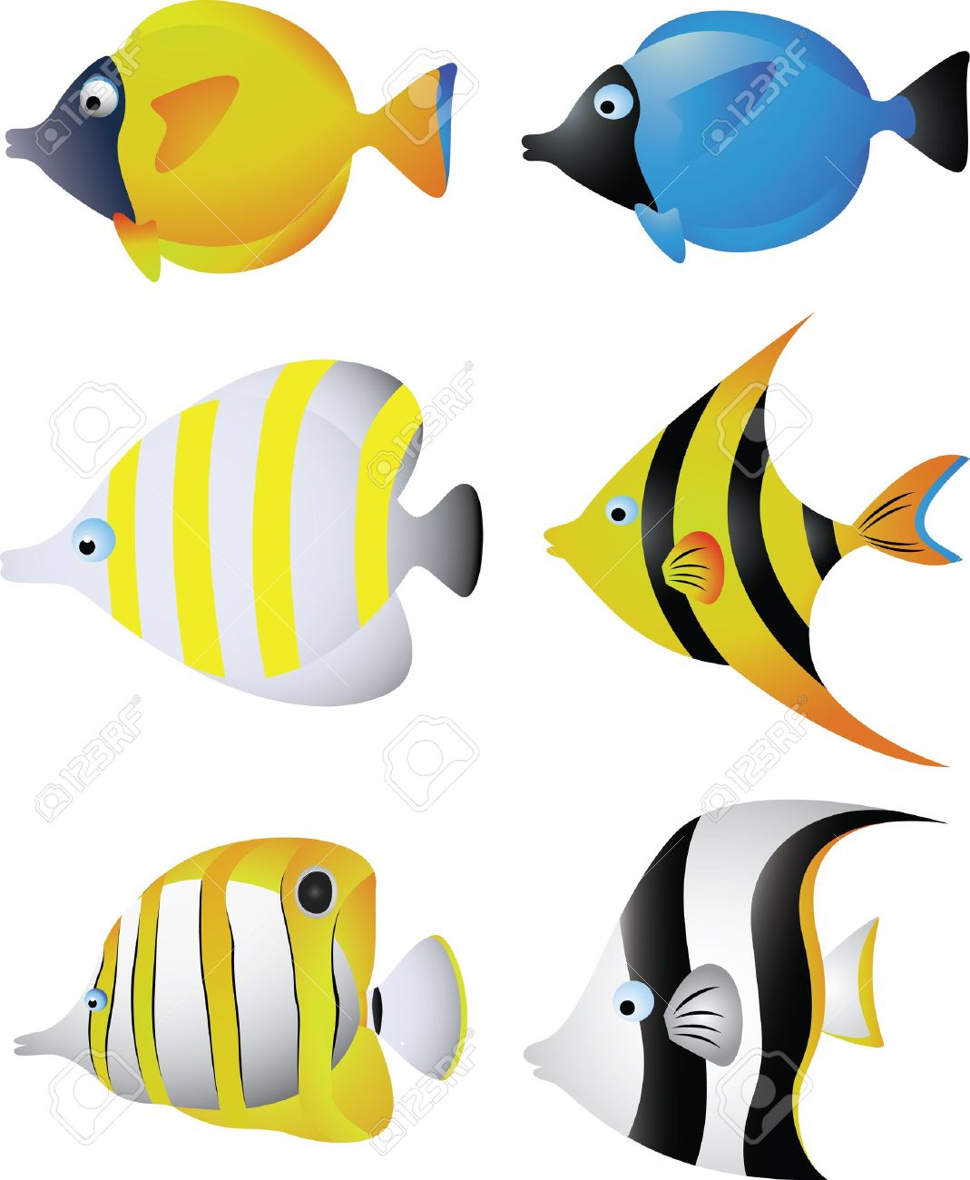 vector illustration of Tropical fish collection Stock Vector - 14805503