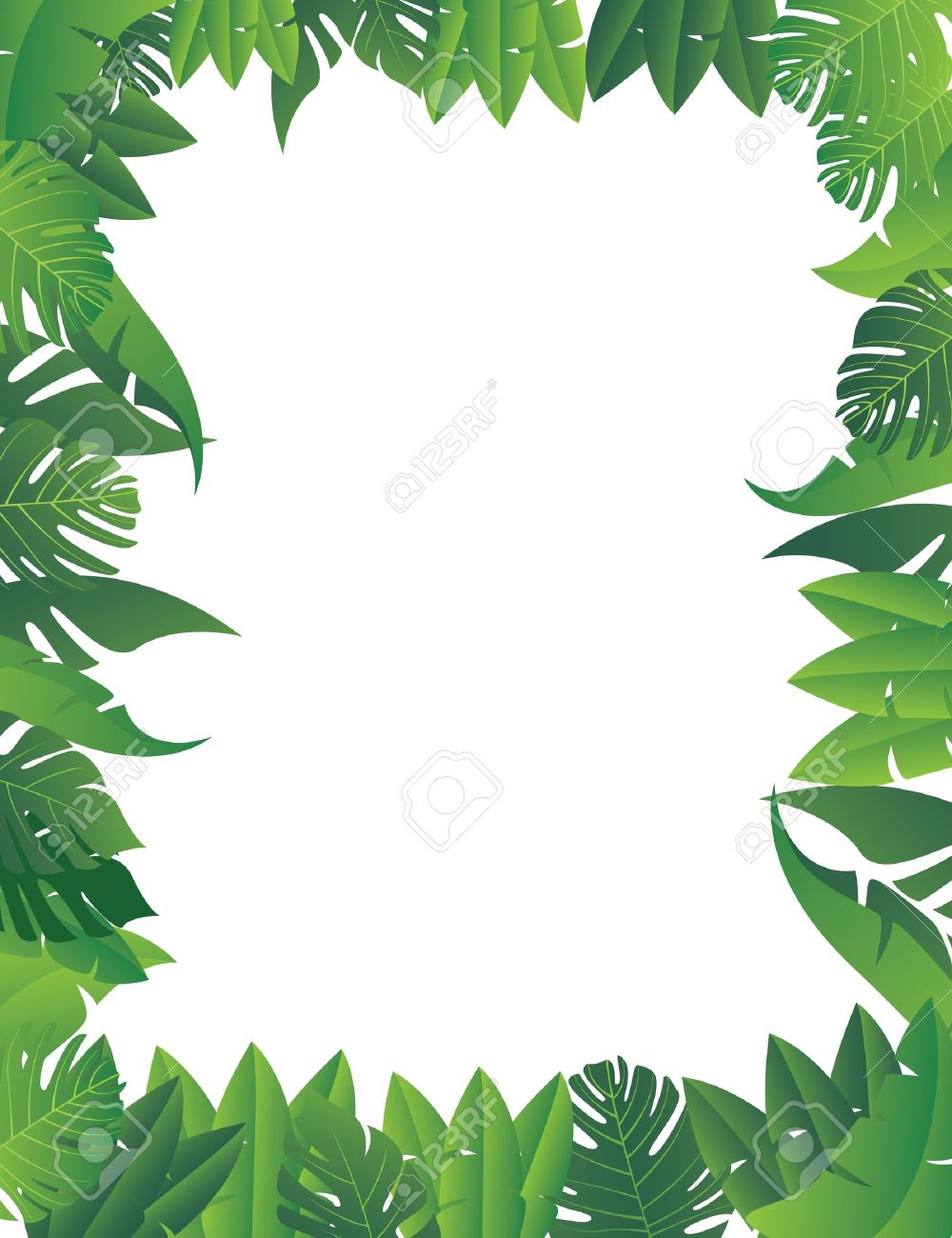 Print Summer Exotic Jungle Plant Tropical Image Vectorielle