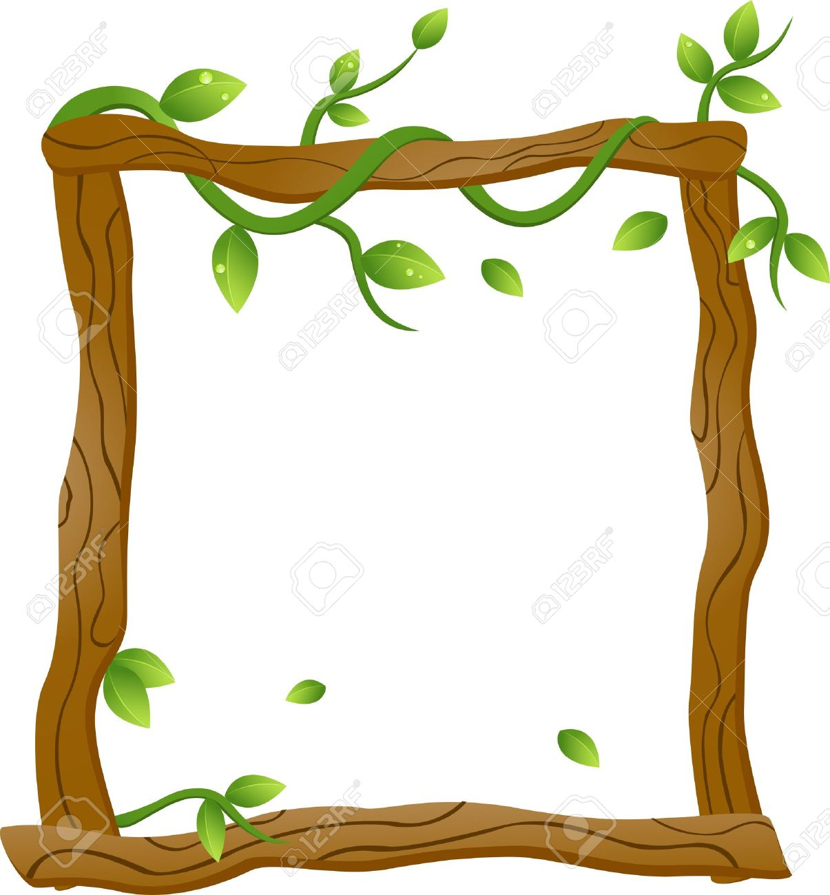 Vector Illustration Of Natural Frame Royalty Free Cliparts, Vectors ...