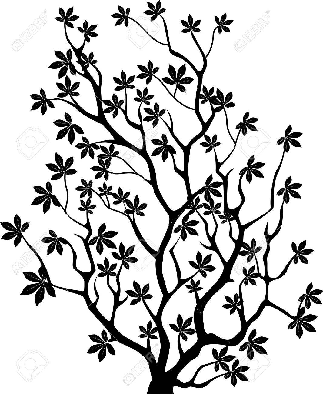 vector illustration of Tree silhouette Stock Vector - 14805655
