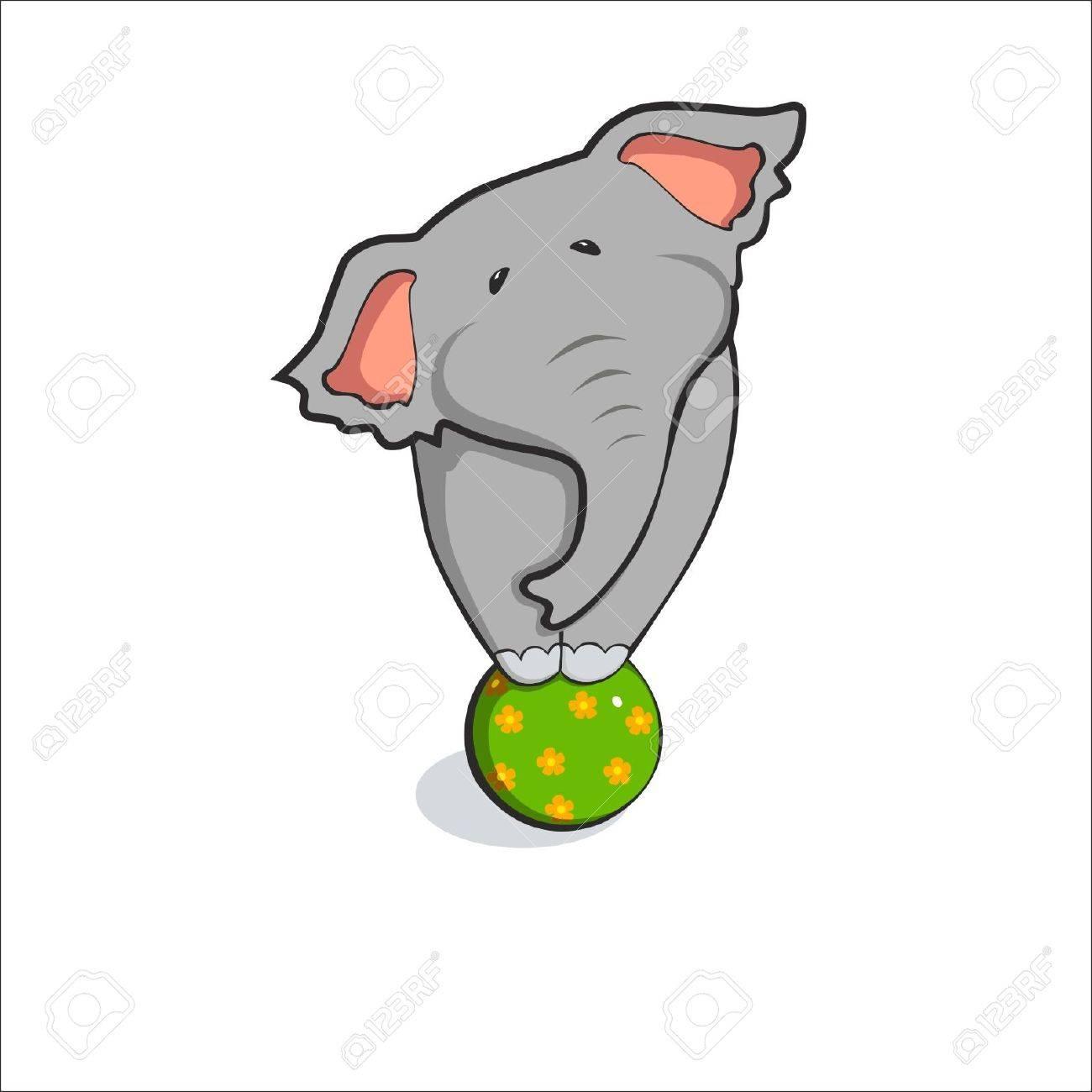 illustration of elephant share vektor Stock Vector - 15241578