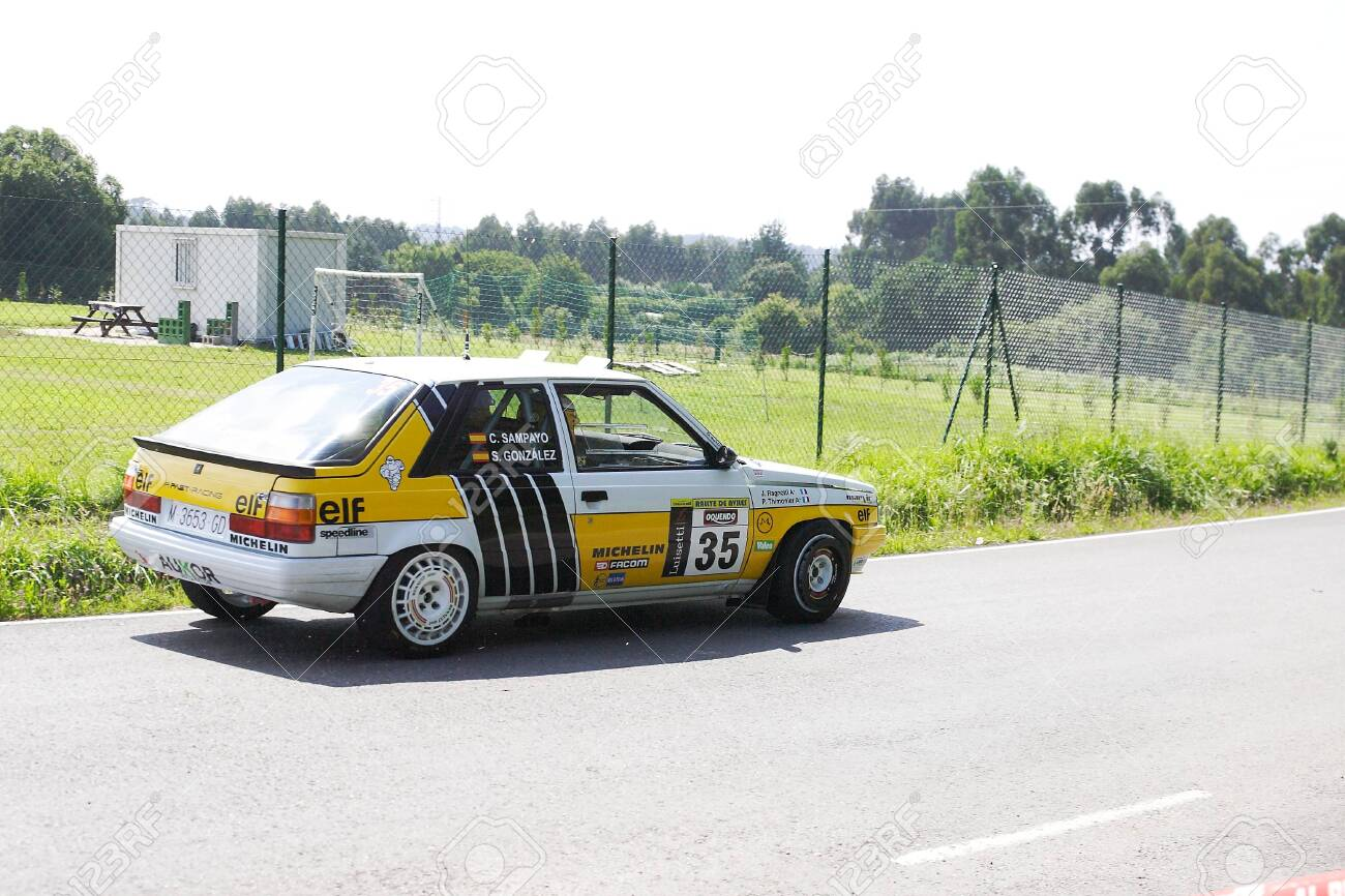 Aviles Spain July 6 Carlos Sampayo Drives A Renault 11 Turbo Stock Photo Picture And Royalty Free Image Image 127299944