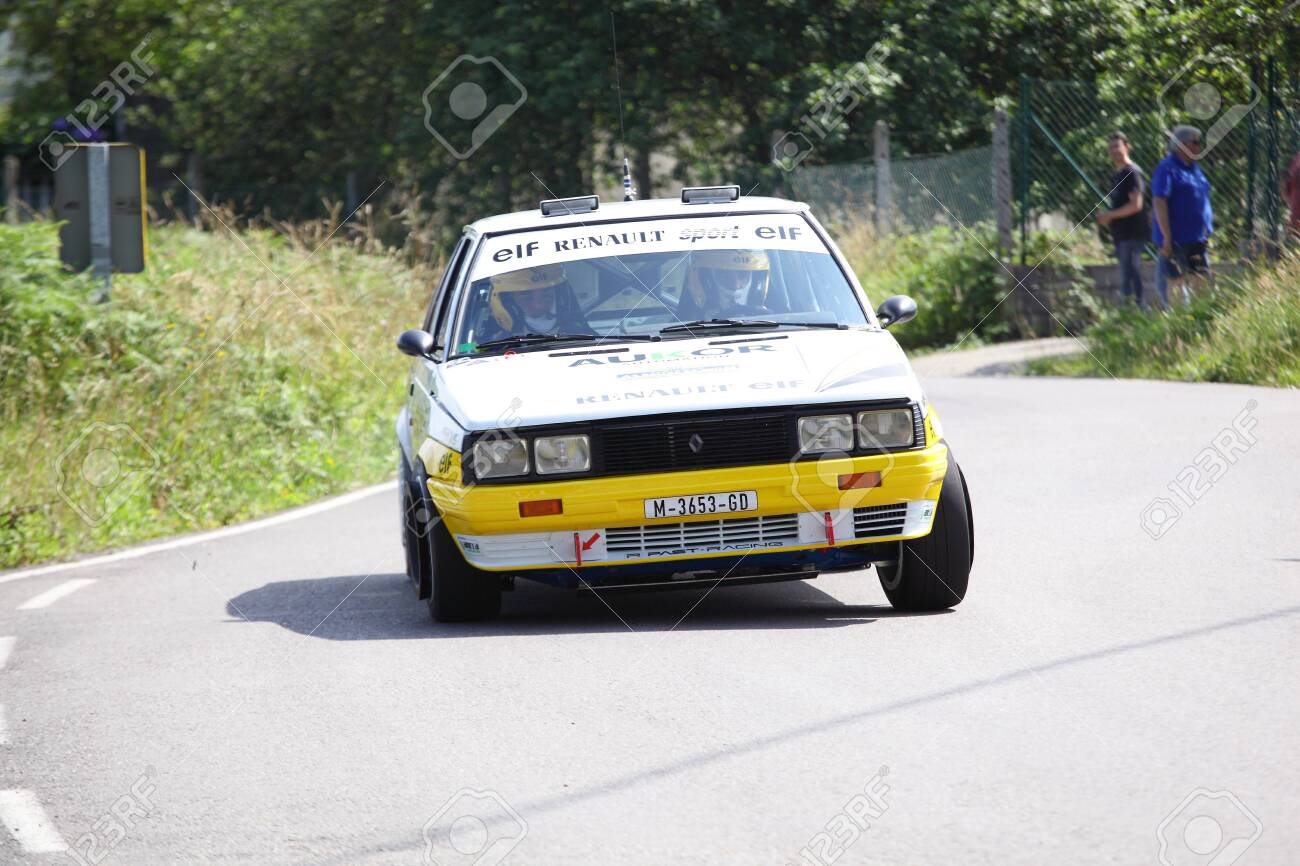 Aviles Spain July 6 Carlos Sampayo Drives A Renault 11 Turbo Stock Photo Picture And Royalty Free Image Image 127299971