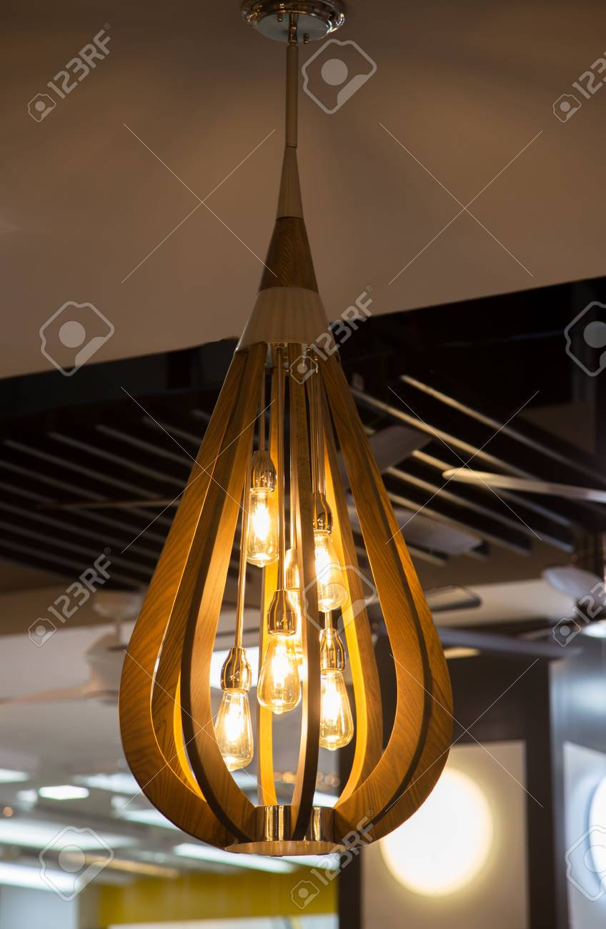 Close Up On Crystal Of Contemporary Chandelier Is A Branched Stock Photo Picture And Royalty Free Image Image 119890596