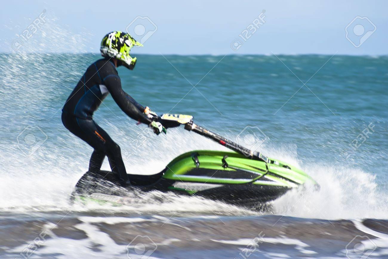 man on the jet ski above the water at Mondello - 14399860
