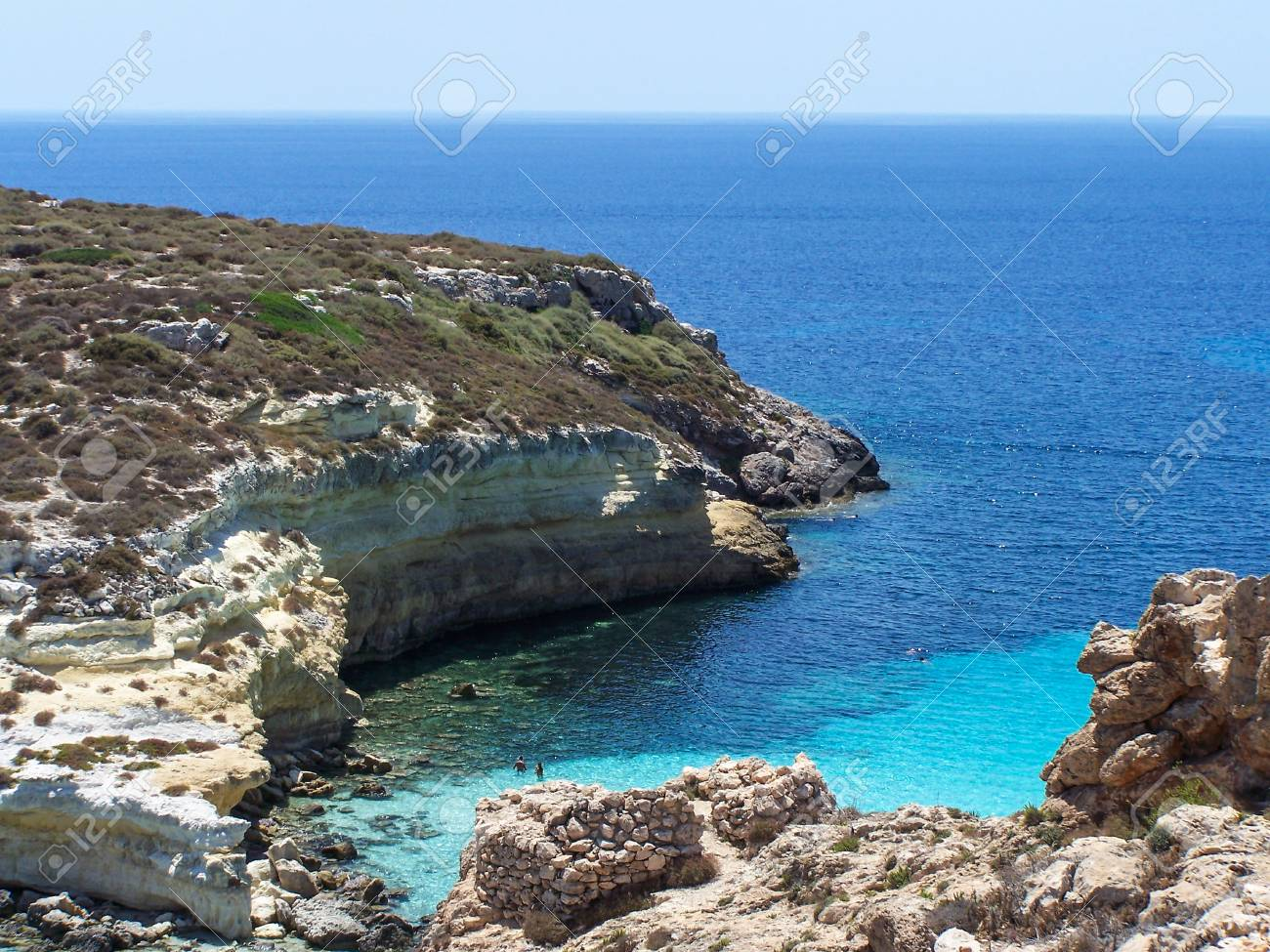 Island Of Lampedusa Sicily Italy Stock Photo Picture And Royalty