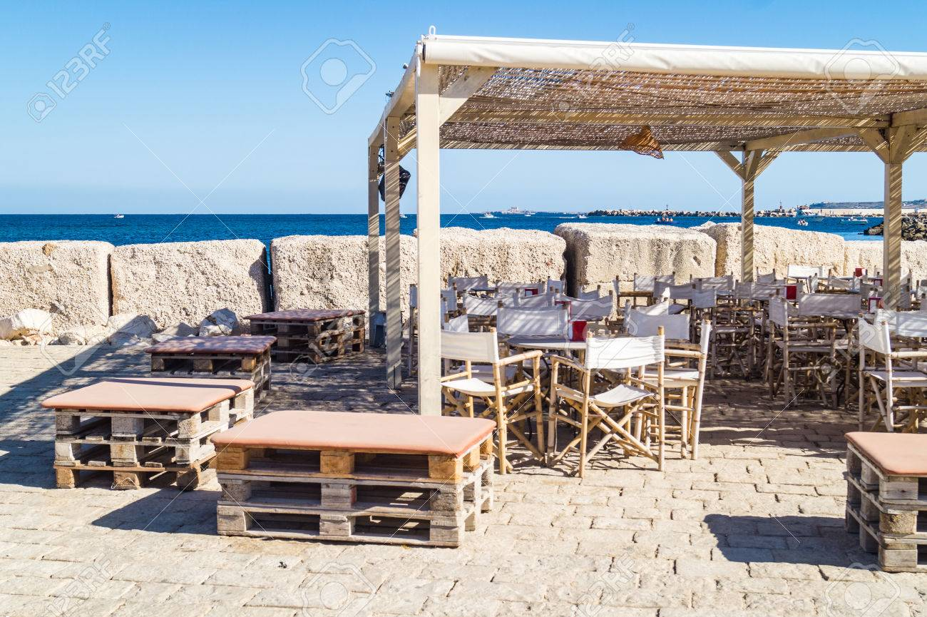 View Of A Typical Rustic Bar In Marzamemi, A Small Fisher Village ...