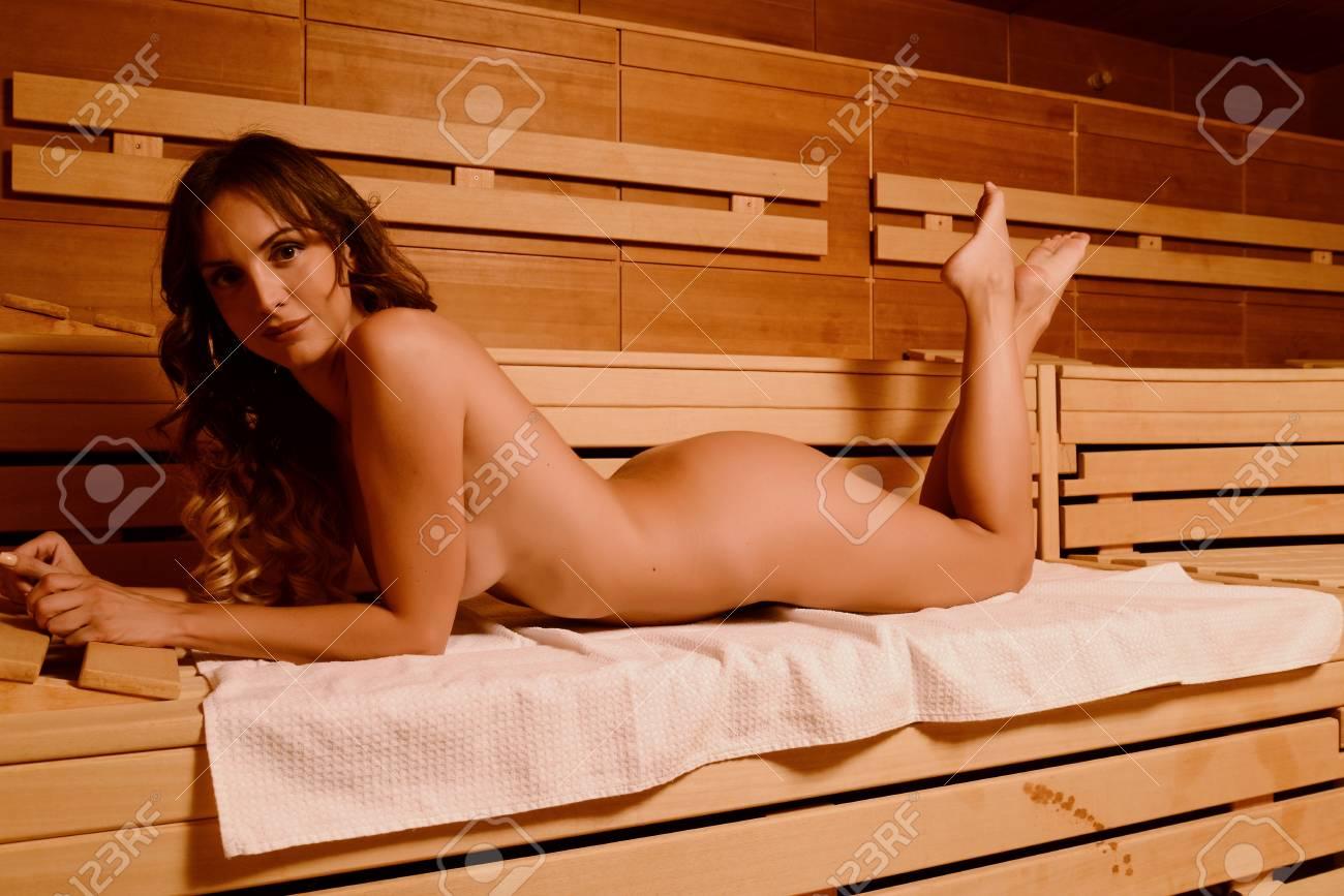 naked in sauna