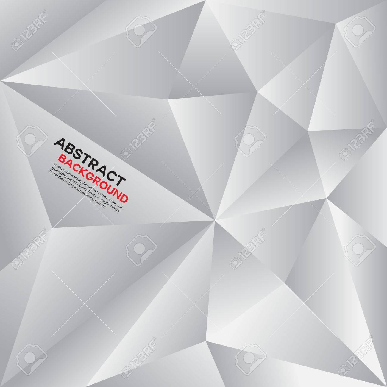 Silver Polygon BackgroundAbstract Geometrical BackgroundVector Illustration Creative Design Templatescover