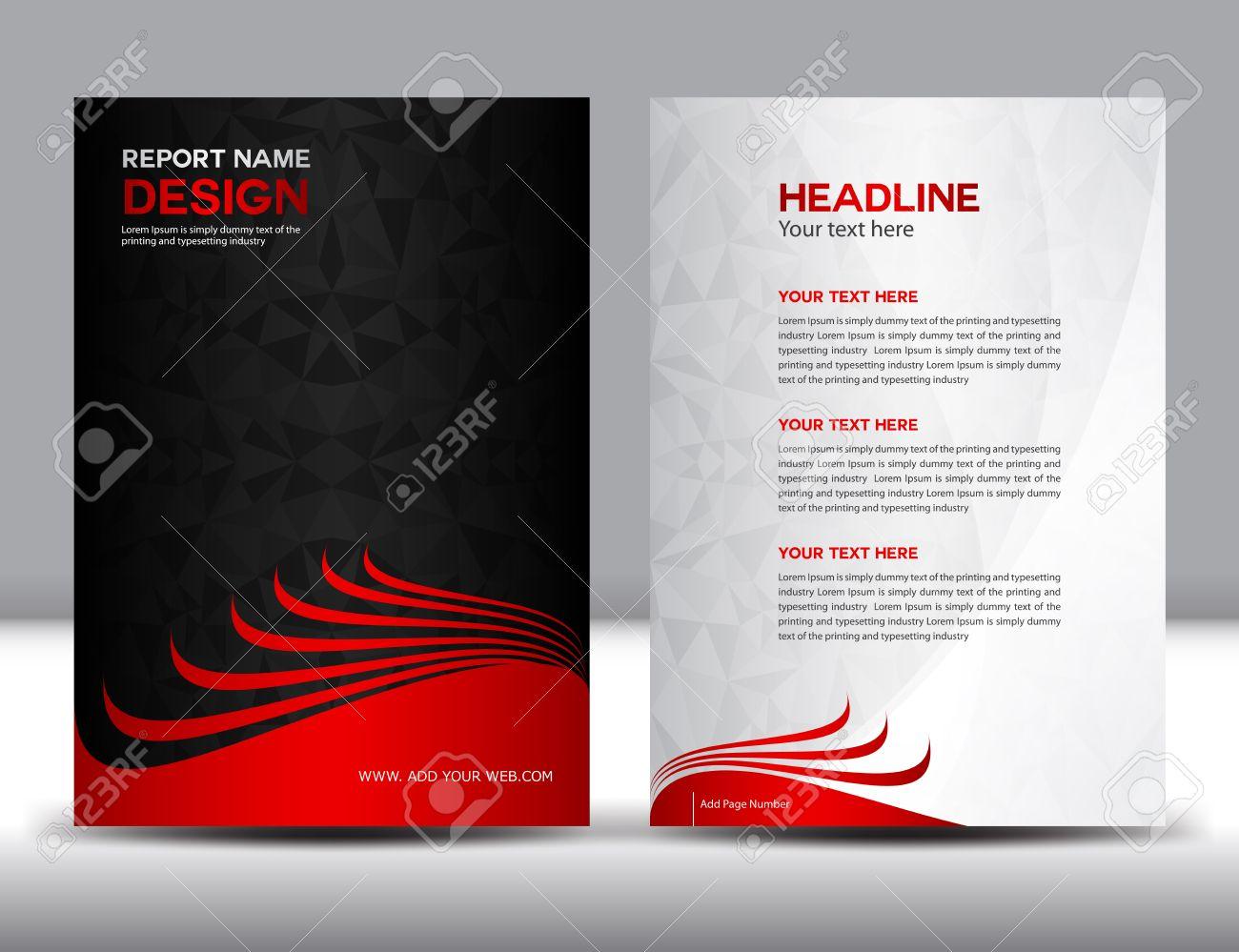 black annual report vector illustration cover design brochure